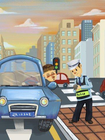 original illustration drunk driving road safety check car llustration image