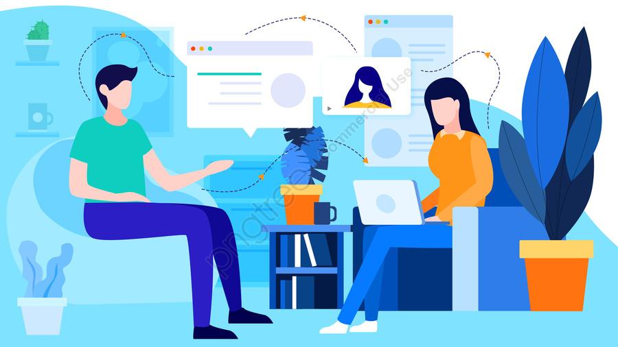 Flat Office Business, Flat, Office, Business Office llustration image