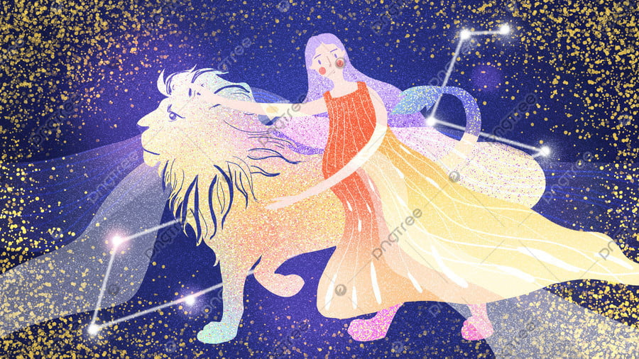 Leo 12 constellation dream, Twelve Constellations, Leo, Dream llustration image
