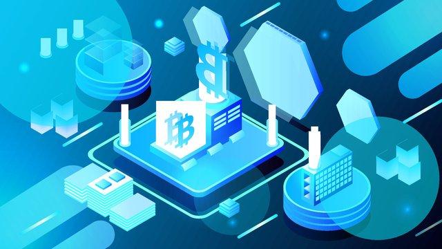 2.5d bitcoin finance business technology vector illustration, 2.5d, 2.5d, 25d illustration image