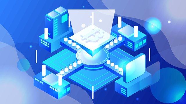 25d semi stereo financial technology breathable bitcoin vector illustration llustration image illustration image