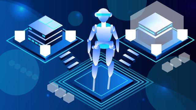 2 5d semi stereo dark blue technology robot vector illustration llustration image illustration image