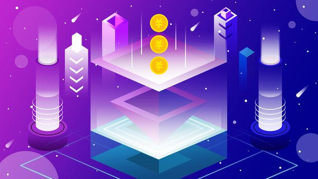 Original illustration 2.5d breathable future technology finance, 2.5d, Breathable, Future illustration image