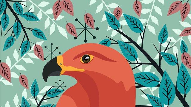 Ilustração de águia impressão animal bonito e frescoAnimal  Fresco  Plant PNG E Vetor illustration image