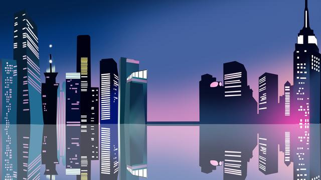 도시 랜드 마크 실루엣 그림 삽화 소재