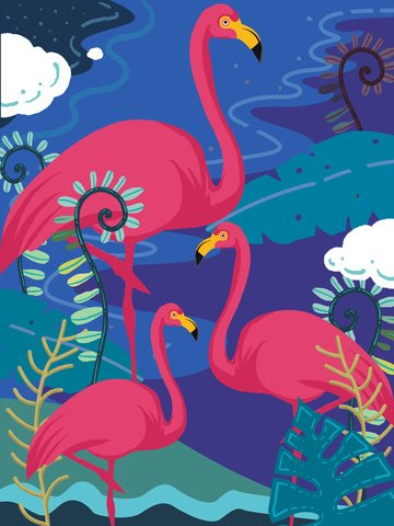 Natural imprint flamingo  illustration llustration image