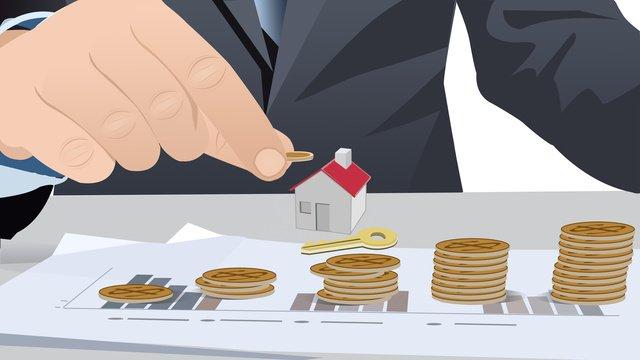 Flat financial finance illustration, Flat, Business, Financial illustration image