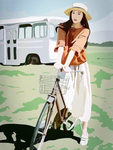 心の言語、おはようございます、美しさ、野生、サイクリング、キャンプピクニック イラスト素材