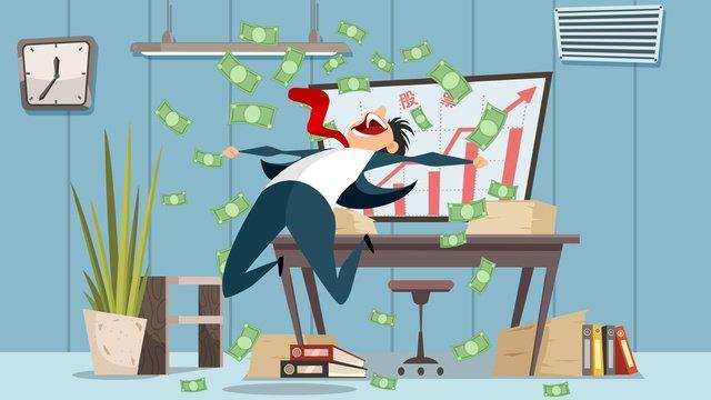 had harian saham meraikan wang kewangan contoh datar imej keterlaluan imej ilustrasi