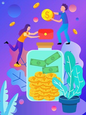 Оригинальная ручная роспись финансового менеджмента flat wind Ресурсы иллюстрации Иллюстрация изображения