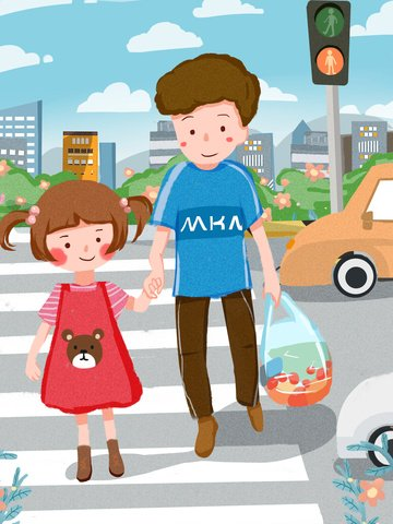 安全な旅行文明交通かわいい子供たちフラットイラスト イラスト画像