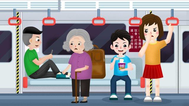 traffic subway car civilized ride scene illustration llustration image illustration image