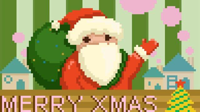 聖誕節賀卡聖誕老人主題插畫 插畫素材 插畫圖片