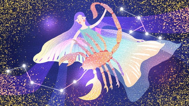 scorpio twelve constellations dream sky llustration image