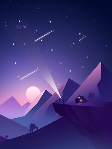Starry sky illustration cures beautiful, Starry Sky Illustration, Healing System Beautiful Sky, Ones Sky illustration image
