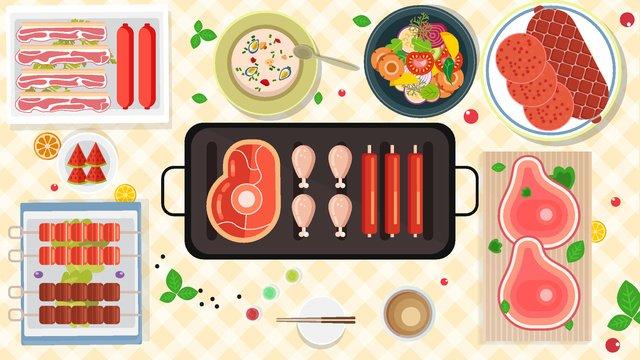 thực phẩm mùa đông nướng điện gia đình tự chọn Hình minh họa Hình minh họa