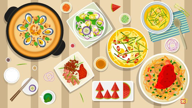 Healthy food illustration for winter cuisine, Winter Food, Salad, Healthy Diet illustration image