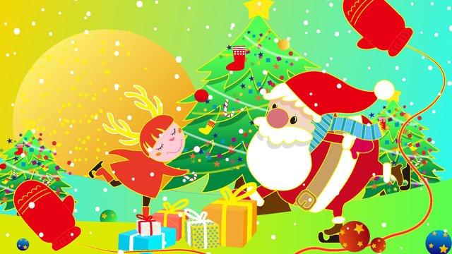 クリスマスambilightグラデーションイラスト イラスト素材