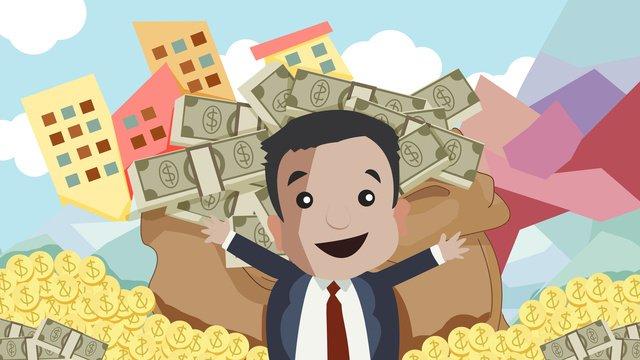 Управление финансовым состоянием зарабатывание денег иллюстрация Ресурсы иллюстрации