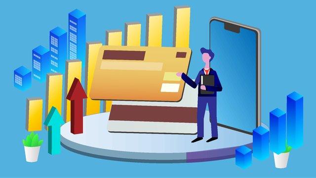 Финансовая кредитная карта векторная иллюстрация Ресурсы иллюстрации Иллюстрация изображения