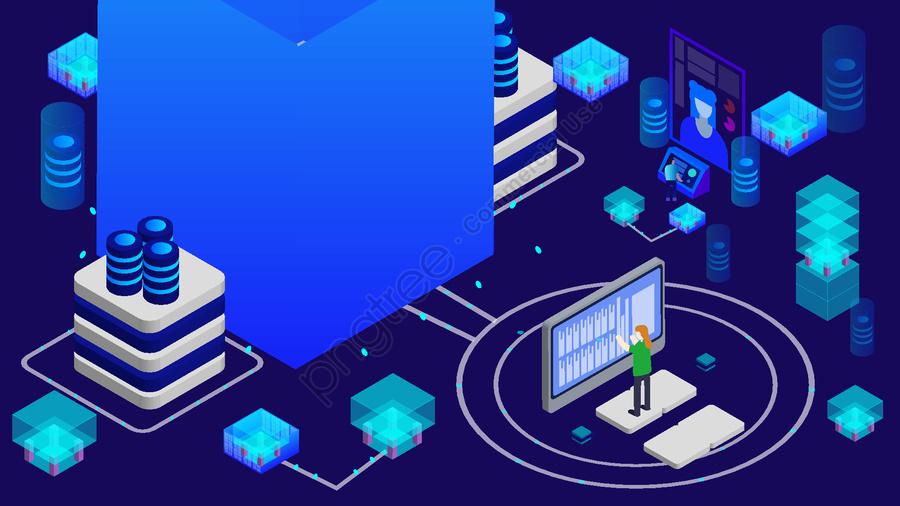 2 5d Искусственный интеллект Технологии будущего Компьютерная векторная иллюстрация, 2.5d, Искусственный интеллект, Технологии будущего llustration image
