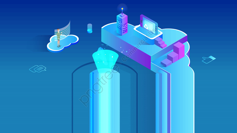 2.5d artificial intelligence technology future, 2.5d, Artificial Intelligence, Technology Future llustration image