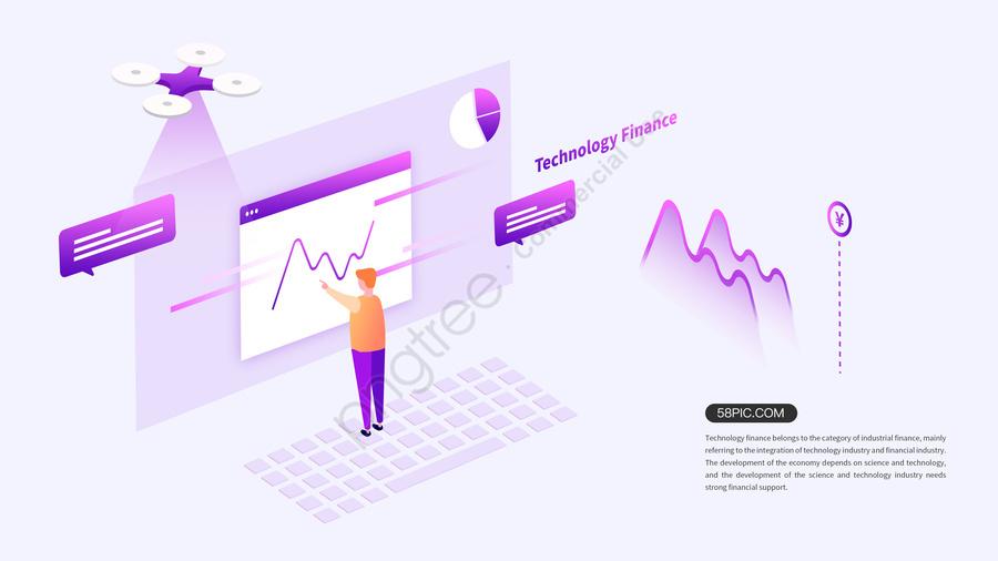 2 5d Technology Finance Удобное финансирование, 2.5d, бизнес, финансовый llustration image