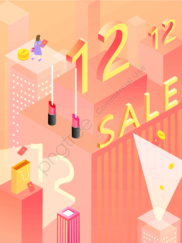 2.5d dual 12 shopping carnival year-end promotion, 2.5d, Poster, End Of The Year llustration image