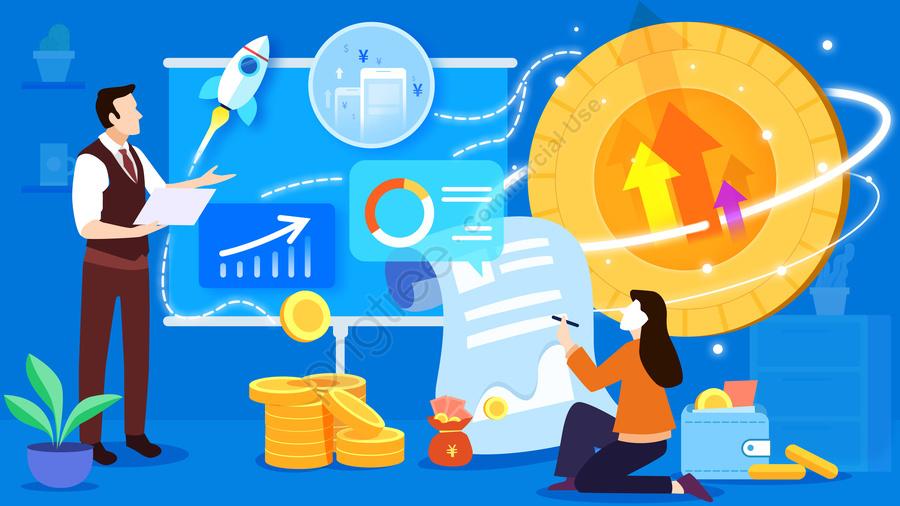 Иллюстрация иллюстрации деловой встречи голубого плоского ветра финансовая, синий, квартира, Деловой человек llustration image
