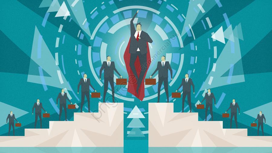 Business office superman vector illustration, Business, Office, Business Office llustration image
