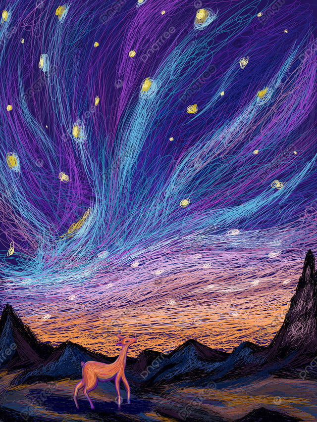 Beautiful fresh starry illustration of coil style, Coil, Beautiful And Fresh, Healing llustration image