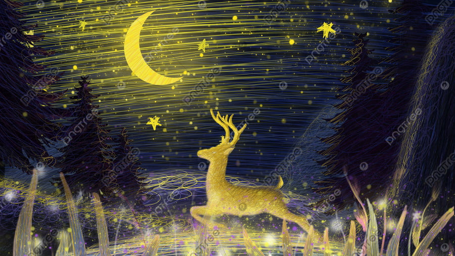 Coil illustration beautiful healing system running deer, Coil, Healing, Beautiful llustration image