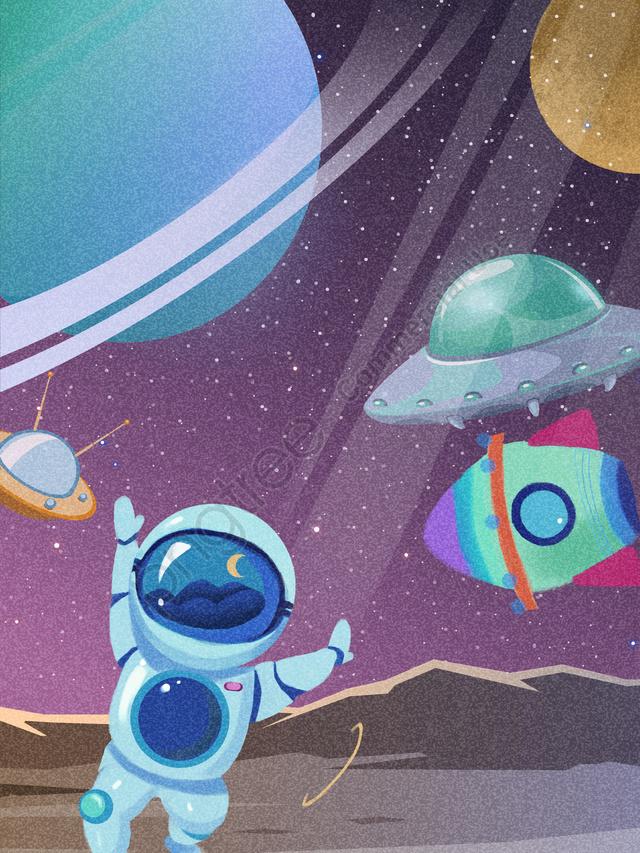 Будущее науки и техники Космический тур Планета астронавтов, Технологии будущего, астронавт, планета llustration image