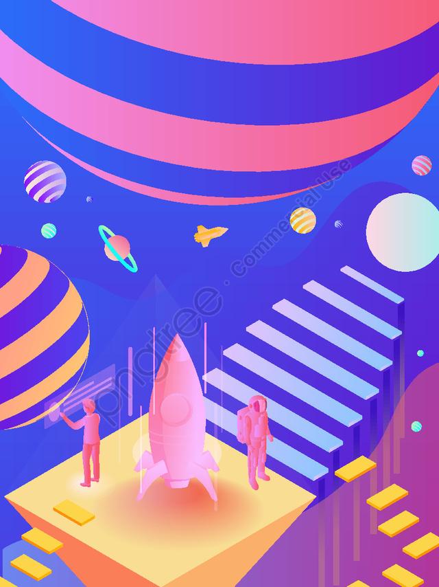Технологии будущего Cosmic Colony 2 5d Scene Illustrator, Технологии будущего, Звездное путешествие, Космическая колонизация llustration image
