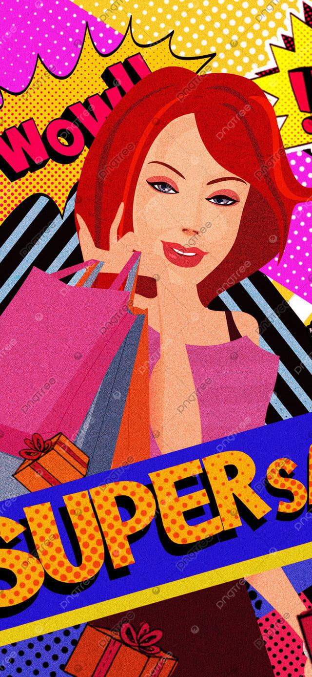 Original illustration double twelve shopping spree, Original, Illustration, Double Twelve llustration image