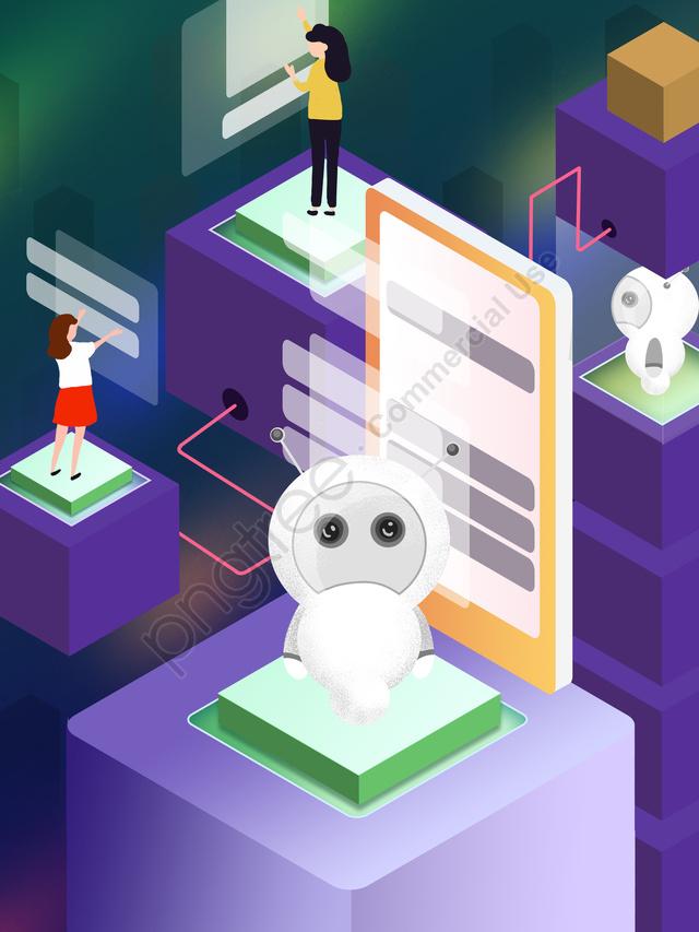 Оригинальная технология Future 2 5d Robot Gradient Illustration, оригинал, Наука и технологии, будущее llustration image