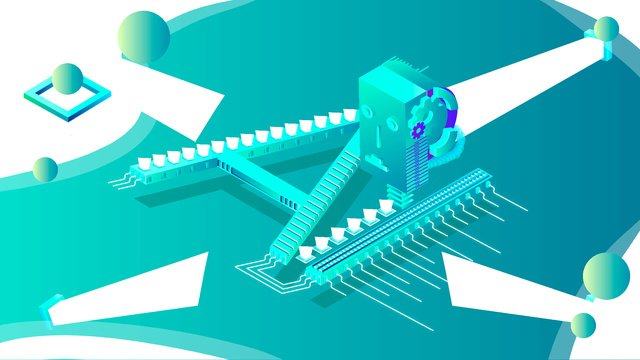 2 5d artificial intelligence ai robot head vector illustration llustration image