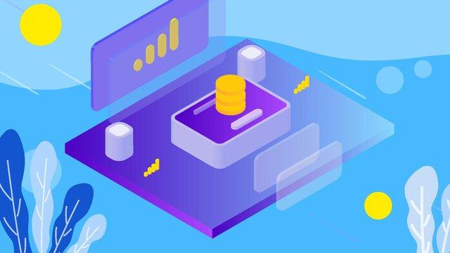 Minh họa tài chính tương lai 25d25d  Bảo  Hiểm PNG Và Vector illustration image