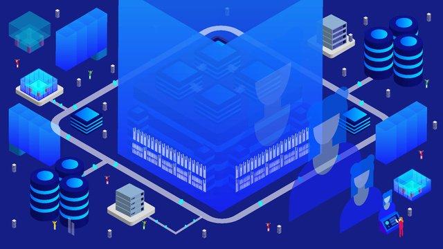 2.5d artificial intelligence future technology vector illustration, 2.5d, Vector Illustration, Artificial Intelligence illustration image