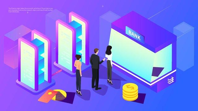 2 5d финансовый банк снятие красный конверт офис финансы градиент иллюстрации Ресурсы иллюстрации Иллюстрация изображения