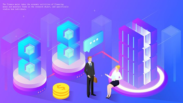 2 5d cooperation financial technology office investment gradient illustration llustration image