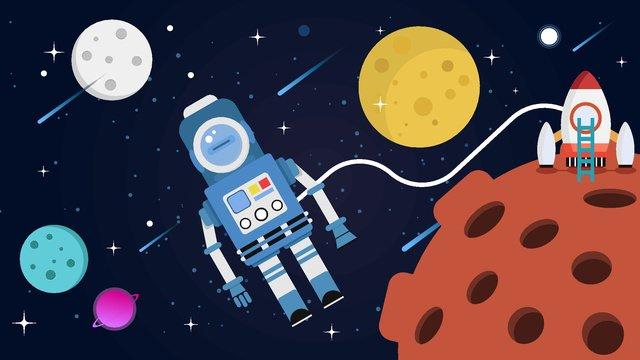 Artificial intelligence robot astronaut travel, Artificial Intelligence, Robot, Technology illustration image