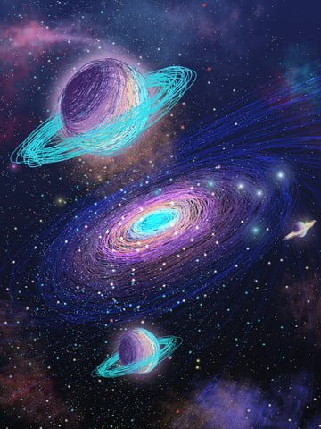 coil impression starry dream space beautiful milky way healing illustration poster llustration image