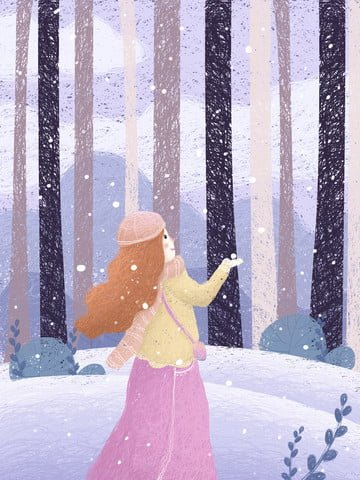 Beautiful dream healing girl coil painting, Beautiful, Dream, Healing illustration image