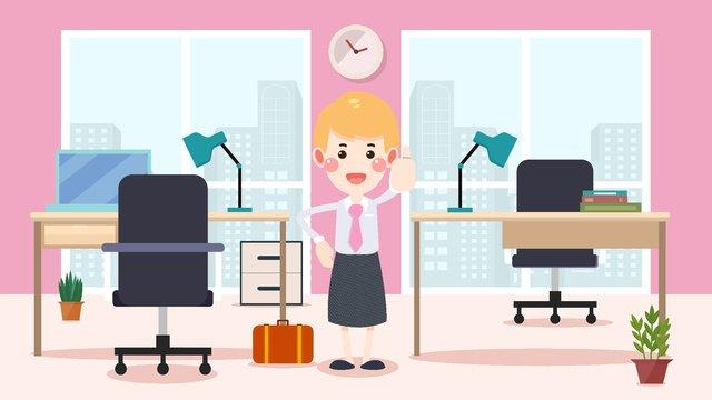 girl working full of business office llustration image illustration image