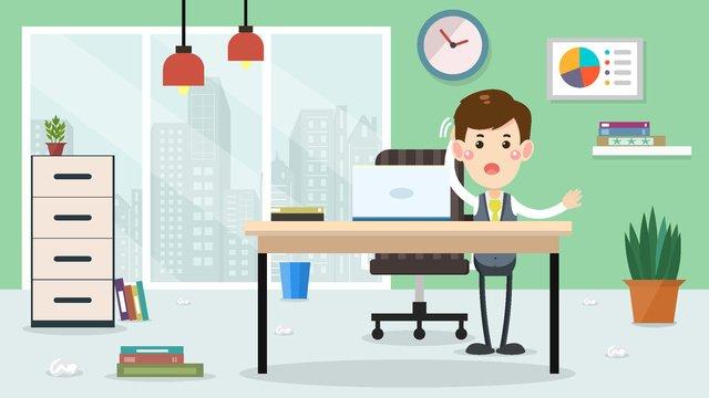 営業所の仕事の悩み事業所  仕事  トラブル PNGおよびベクトル illustration image