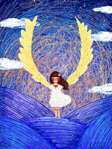 coil illustration girl dream cure original llustration image