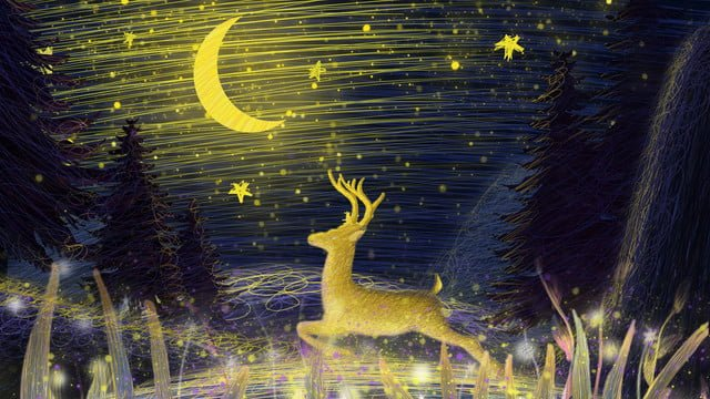Coil illustration beautiful healing system running deer, Coil, Healing, Beautiful illustration image