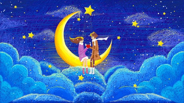 Coil impression cure dream starry love, Coil Impression, Cure, Fantasy Starry Sky illustration image