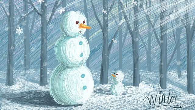 कुंडल छाप का इलाज चित्रण सर्दियों बर्फ snowman का चित्रण पोस्टर चित्रण छवि चित्रण छवि